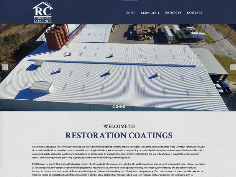 Web Design - Ranch House Designs - Restoration Coatings