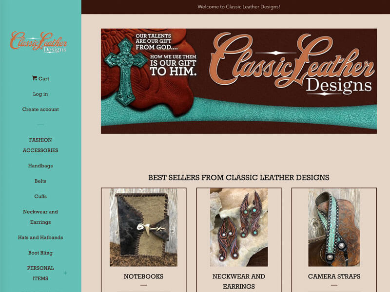 Leather Designs Shopify - Ranch House Designs - Classic Leather Designs