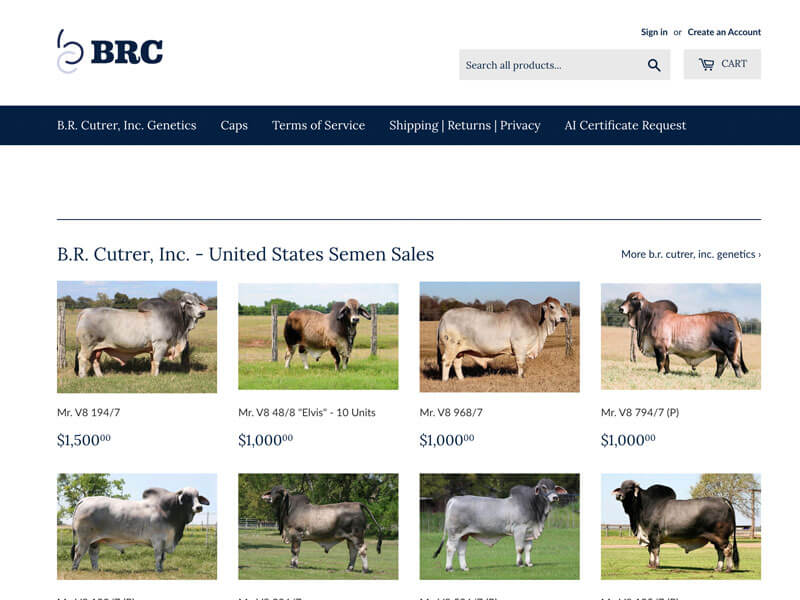 Bull Semen Online Store - B.R. Cutrer, Inc. - Ranch House Designs