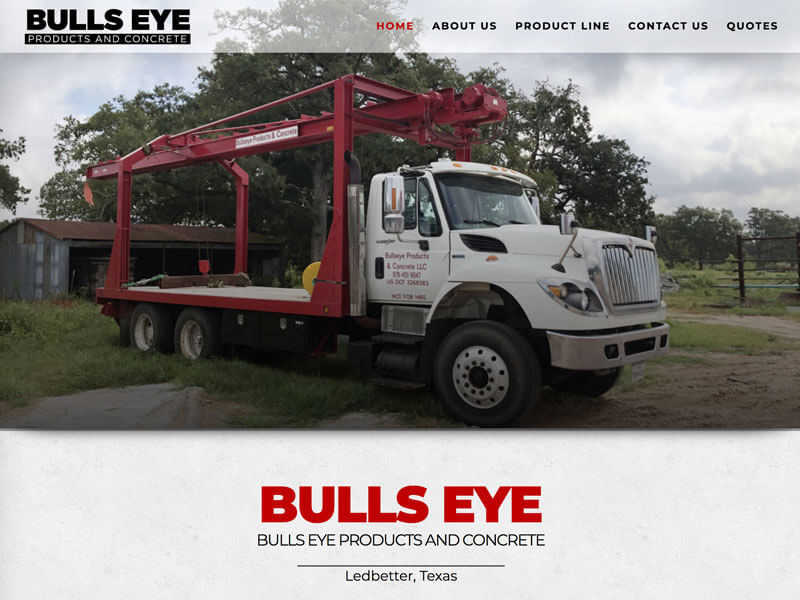 Bulls Eye Products & Concrete Web Design - Ranch House Designs