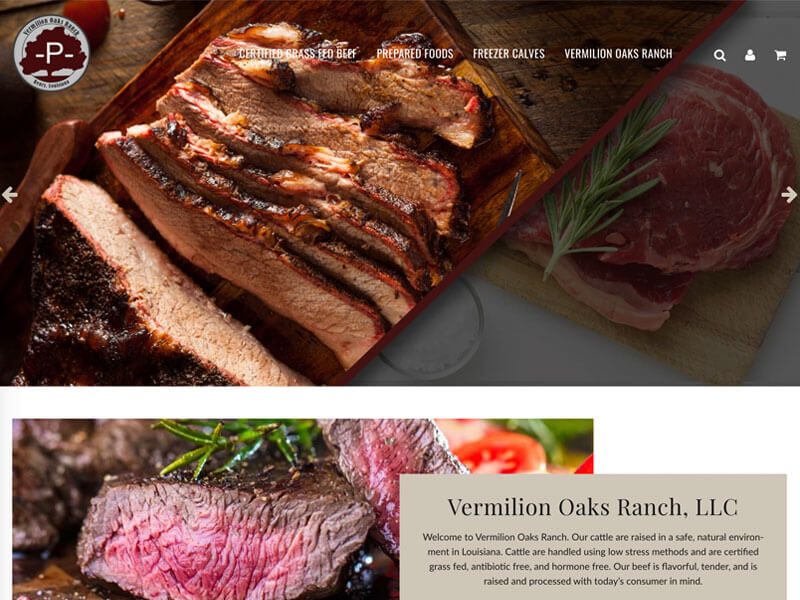 Retail Beef Online Store - Ranch House Designs - Vermilion Oaks Ranch