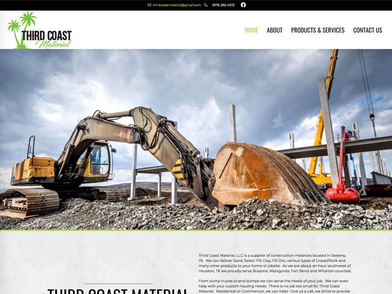 Third Coast Materials Web Design - Ranch House Designs, Inc.